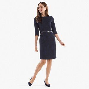 Etsuko Dress in Dash Jacquard Blue-Black